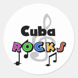Cuba Rocks Classic Round Sticker