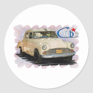 Cuba Round Sticker