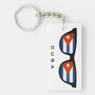 Cuba Shades custom text & color key chain