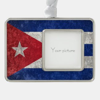 Cuba Silver Plated Framed Ornament
