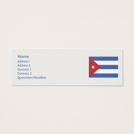 Cuba - Skinny Mini Business Card
