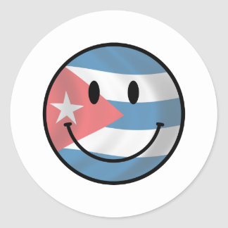 Cuba Smiley Classic Round Sticker
