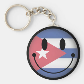 Cuba Smiley Key Ring
