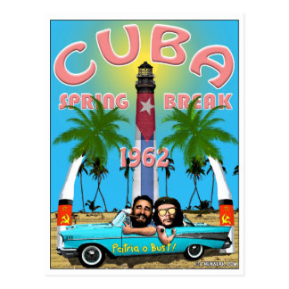 Cuba Spring Break 1962 Travel Postcard