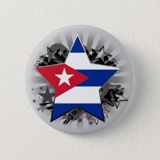 Cuba Star 6 Cm Round Badge