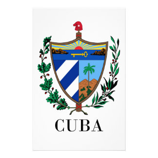 CUBA - symbol/coat of arms/flag/colors/emblem Personalized Stationery