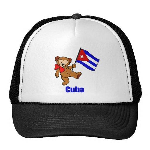 Cuba Teddy Bear Mesh Hat