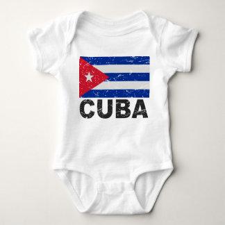 Cuba Vintage Flag Baby Bodysuit