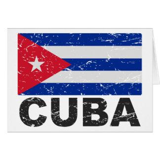 Cuba Vintage Flag Card