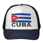 Cuba Vintage Flag Mesh Hats