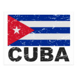Cuba Vintage Flag Postcard