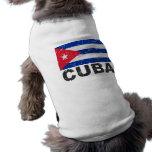 Cuba Vintage Flag Sleeveless Dog Shirt