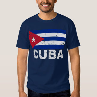 Cuba Vintage Flag Tshirt