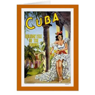 Cuba Vintage Travel Card