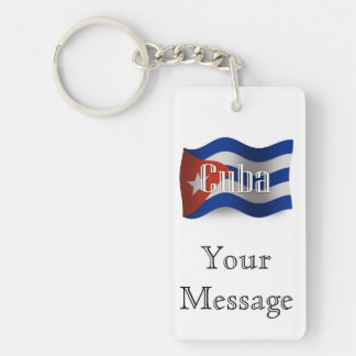 Cuba Waving Flag Key Ring