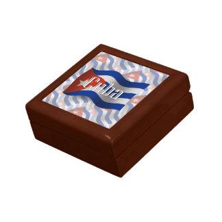 Cuba Waving Flag Small Square Gift Box