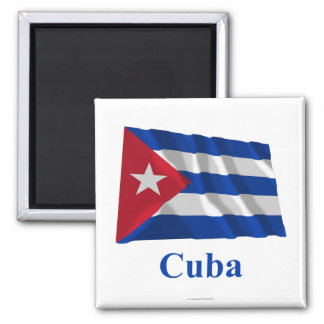 Cuba Waving Flag with Name Magnet