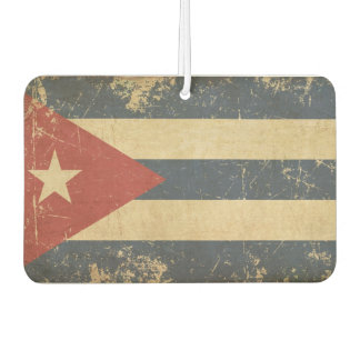 Cuban Aged Flat Flag Car Air Freshener