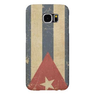 Cuban Aged Flat Flag Samsung Galaxy S6 Cases