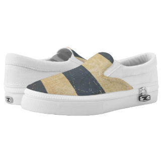 Cuban Aged Flat Flag Slip-On Shoes