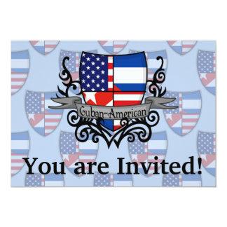 Cuban-American Shield Flag 13 Cm X 18 Cm Invitation Card