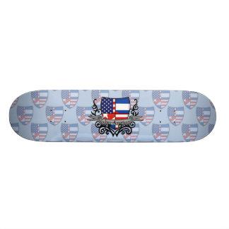 Cuban-American Shield Flag Skateboards