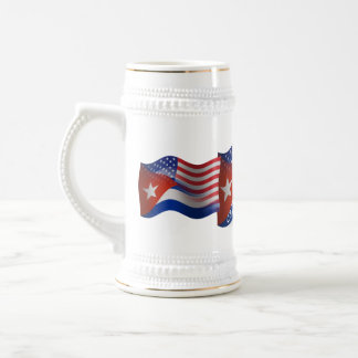 Cuban-American Waving Flag Beer Stein