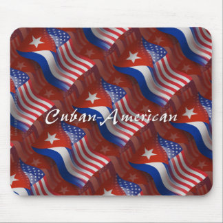 Cuban-American Waving Flag Mouse Mat