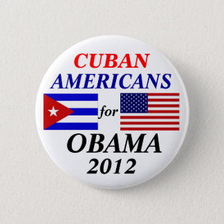 Cuban americans for Obama 6 Cm Round Badge