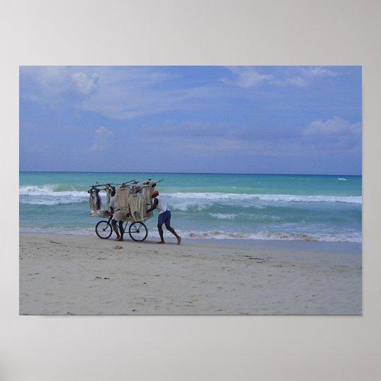 Cuban Beach Scene Poster
