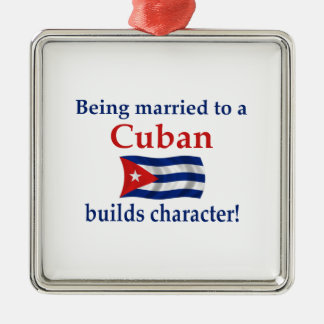 Cuban Builds Character Christmas Ornament