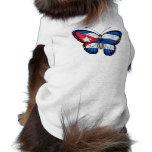 Cuban Butterfly Flag Doggie Tee
