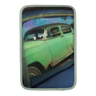 Cuban car reflection MacBook air sleeve