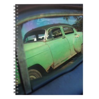 Cuban car reflection notebook