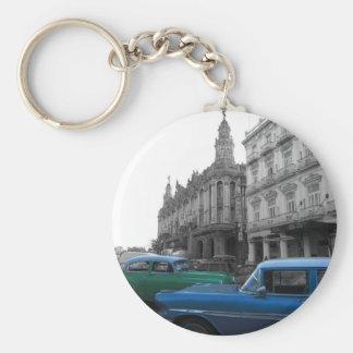 Cuban Cars 1 Basic Round Button Key Ring
