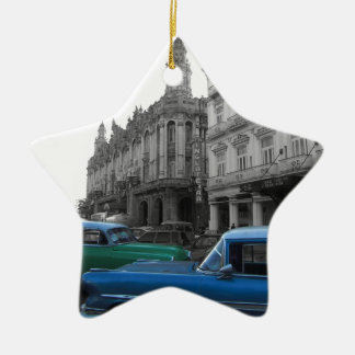 Cuban Cars 1 Ceramic Star Decoration