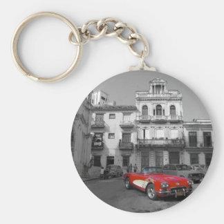 Cuban Cars 3 Basic Round Button Key Ring