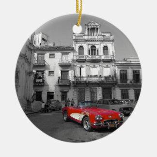 Cuban Cars 3 Christmas Ornament