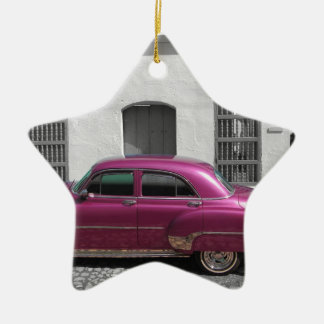 Cuban Cars 4 Ceramic Star Decoration