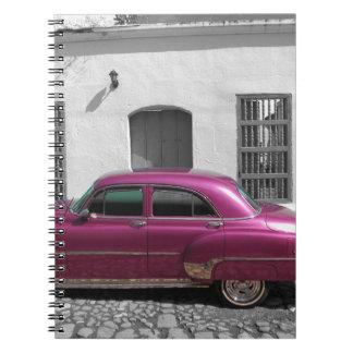Cuban Cars 4 Note Books