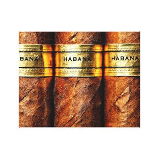 Cuban Cigar Habana Wrapped Canvas