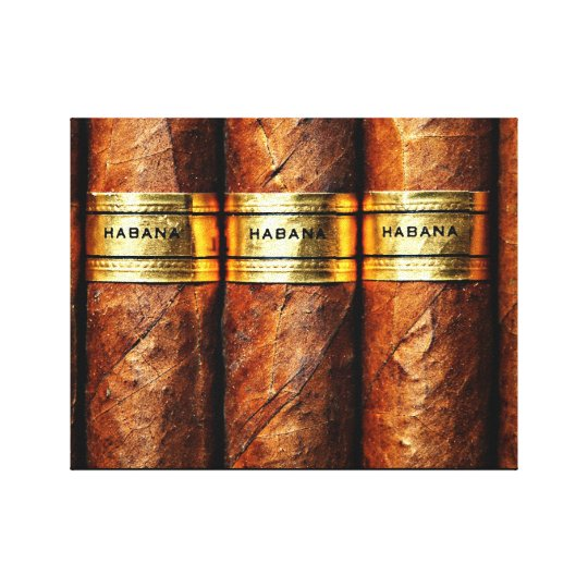 Cuban Cigar Habana Wrapped Canvas