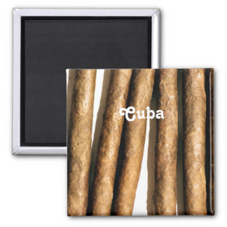 Cuban Cigars Square Magnet
