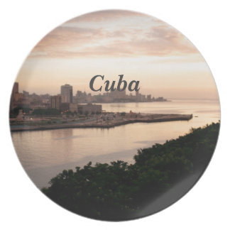 Cuban Cityscape Plate