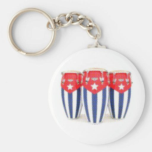 Cuban Congas Keychains