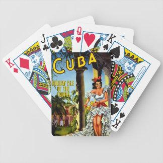 Cuban Dancer Vintage Travel Bicycle Playing Cards
