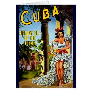 Cuban Dancer Vintage Travel Card