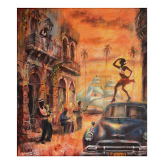 Cuban dances poster
