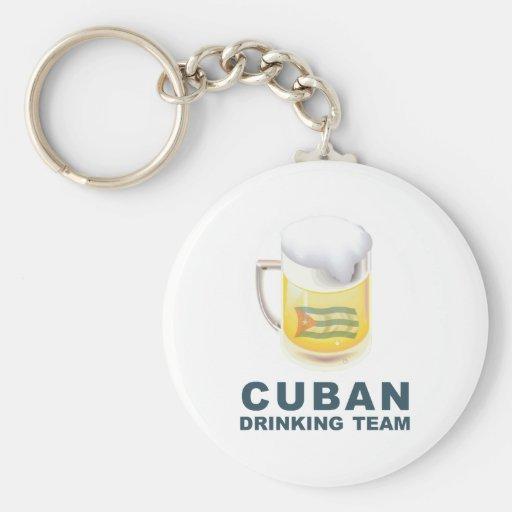 Cuban Drinking Team Keychains