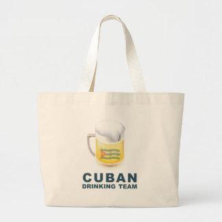 Cuban Drinking Team Large Tote Bag